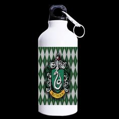 Hogwarts Design Water Bottle (5 types)  //Price: $21.99 & FREE Shipping //     #peterpettigrew #nevillelongbottom #prongs #jewelry #snitch Harry Potter Online, Harry Potter Gifts, Slytherin, Hogwarts, Peter Pettigrew, Neville Longbottom, Promotional Giveaways, Water Bottle Design, Snitch