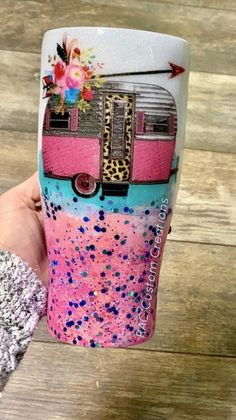Excited to share this item from my shop: Camper Glitter Azul, Glitter Cups, Glitter Flowers, Silver Glitter, Glitter Nails, Diy Tumblers, Custom Tumblers, Glitter Tumblers, Glitter Force