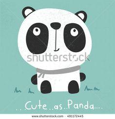 Panda bear illustration curious panda wildlife and panda bear vector character