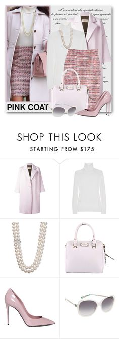 """Pink Coat"" by brendariley-1 ❤ liked on Polyvore featuring Christian Wijnants, Yves Saint Laurent, J.Crew, Belle de Mer, Kate Spade, Dolce&Gabbana, M Missoni and pinkcoats"