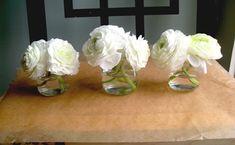 DIY baby food jar flower arrangements... <3