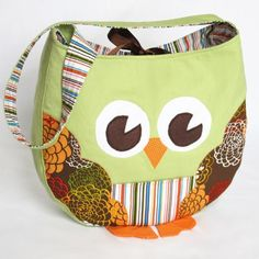 Funky Little Owl Bag, sewing pattern. Who wants to volunteer to make this for me!? Seriously...I don't do patterns