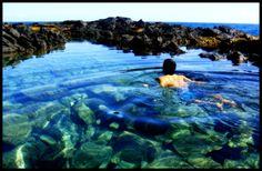 tidepools below Makapu'u lighthouse, Oahu, full of lively fish