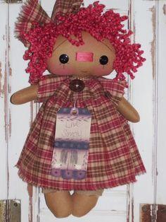Primitive Raggedy Ann Doll * Live Simply * Homespun  Annie