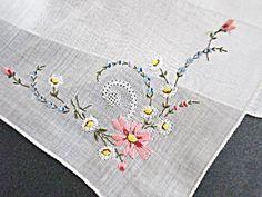 Amazing Swiss Embroidery Wedding Hankie