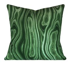 Emerald Green Malachite Gem Decorative Pillow Cover Both