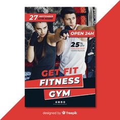 Modern gym flyer template with photo   Free Vector #Freepik #freevector Gym Design, Flyer Design, Fitness Flyer, Flyer Template, Gym Workouts, Vector Free, Ads, Templates, Logo