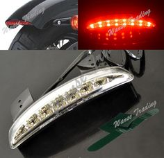 Chopped Fender Edge Led Tail Light For Harley Iron883 Xl883n Xl1200n Xl1200v Red Clear And Distinctive Back To Search Resultshome
