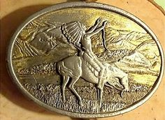 BERGAMOT BRASS WORKS BELT BUCKLE CHIEF JOSEPH OF THE NEZ PERCES BRUSHED