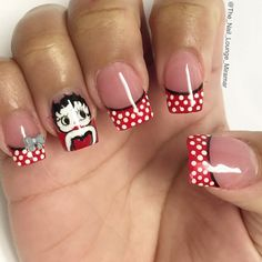 Instagram media by the_nail_lounge_miramar - #wcw Betty Boop. Today's hours:10-7pm. #nailsbyMIKE