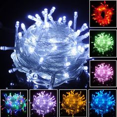 10M/30/100M LED Light Fairy String Light Party Tree Christmas Decor80/200/500LED #Generic