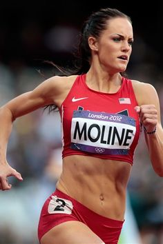Georgeanne Moline--- is an American hurdler who specializes in the 400 meter hurdles and 400 meters. She won a spot on the 2012 Summer Olympics in the 400 meter hurdles.