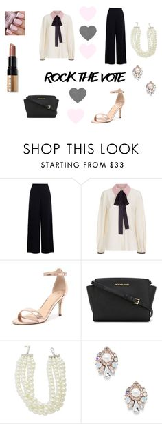 """Rock It Babe"" by hellochloe19 ❤ liked on Polyvore featuring Zimmermann, Roksanda, Verali, MICHAEL Michael Kors, Kenneth Jay Lane, Sole Society, Bobbi Brown Cosmetics, rockthevote and Femnist"