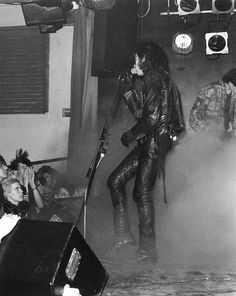 Andrew Eldritch of The Sisters Of Mercy, onstage at Danceteria NYC in 1984