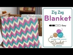How to Crochet An Afghan: Chevron or Ripples in Any Size - YouTube