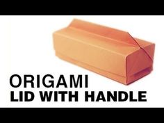 Origami Long Box & Lid with Handle - Paper Kawaii