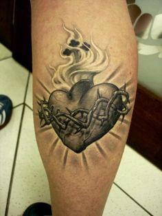 sagrado coração de jesus tattoo - Pesquisa Google