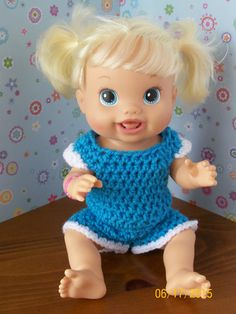 Baby Alive Blue Top and Shorts by LilliansHandmade on Etsy