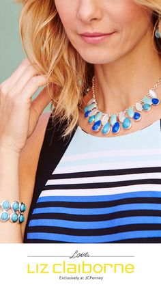 Ocean-inspired hues are sure make a splash—from matching accents to striped shells.