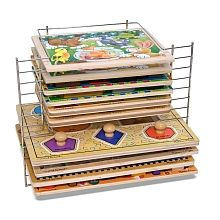 "NEED one of these if not a couple of them!!!   Melissa and Doug Deluxe Wire Puzzle Rack - Melissa & Doug - Toys ""R"" Us"