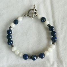 Lapis Lazuli & Moonstone Enchantress Bracelet by Earthcentricity