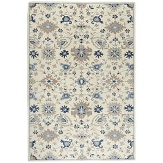 Reese Blue Traditional 9x12 Wool Rug