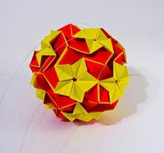 Оригами кусудама многогранник. How to Make Origami Kusudama polyhedron.