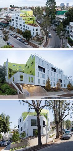 LOHA (Lorcan O'Herlihy Architects) have designed a student and faculty housing complex, located near UCLA, in Los Angeles, California.