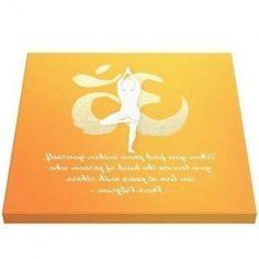Yoga Instructor Studio Quotes Tree Pose OM Symbol Canvas Print