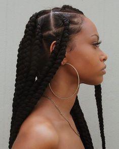 Jumbo Braids, Long Braids, Twist Braids, Twists, Braids For Black Hair, Big Hair, Box Braids Hairstyles, Cool Hairstyles, Dreads