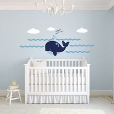 Happy Whale Wall Decal Set by WilsonGraphics on Etsy, $62.00