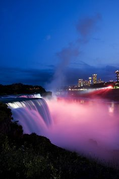 Niagra Falls at Night- i was there even when the falls have been frozen :)