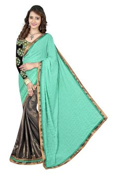 Rama Colour 60gm Chiffon Coating 60gm Dyed Party Wear Saree Buy Sarees