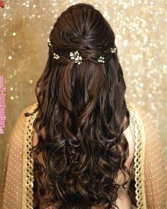 "Orange The Salon ""Portfolio"" album - Bridal Hairstyle for Long Hair Bridal Wedding Hairstyle, Mehendi Hairstyle. Wedding Hair,Wed… | wedding"