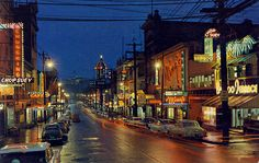 Chinatown at Night, Vancouver BC Fred Herzog Vancouver Chinatown, Vancouver Skyline, Canadian Things, Urban Life, City Photography, Photo Postcards, History Facts, Great Pictures, Pacific Northwest