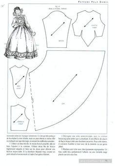 Здравствуйте! Нашла интересные, сложные выкройки старинных платьев. Можно использовать для кукольной одежды. Покажу, вдруг кому-то пригодится. Мне кажется это сложно,