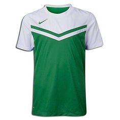 Nike Team Soccer Jersey Women Medium Green & White Dri-Fit Crew Shirt New $35 #Nike #Jerseys