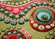 Beaded felt applique