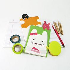 Rice Monsters Notebook from Noodoll#notebooks#notonthehighstreet#monsters