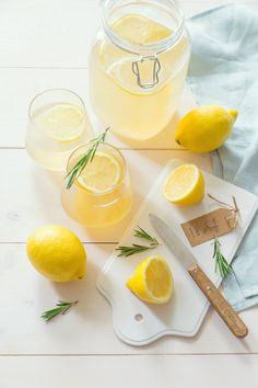 Citronnade maison gingembre romarin