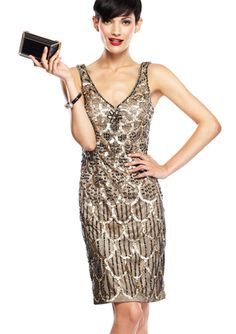 SUE WONG Strapless Beaded Pattern Cocktail Dress | Brands: SADEMM ...