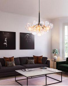 Art Deco Chandelier, Glass Chandelier, Jellyfish Light, Modern Art Styles, Ball Lights, Patio Furniture Sets, Glass Globe, Glass Ball, Pendant Lights