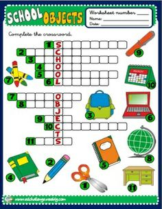 SCHOOL OBJECTS - WORKSHEET 3  http://eslchallenge.weebly.com/packs.html