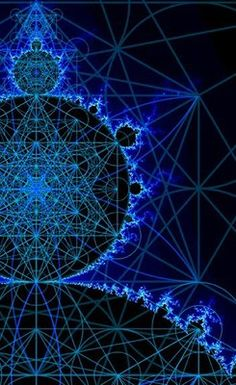 Drops and Sparks : Richard Gannaway (Flower of Life grid and Metatron's Cube nested within a Mandelbrot) Art Fractal, Fractal Geometry, Sacred Geometry Art, Sacred Art, Spirit Science, Mystique, Visionary Art, Flower Of Life, Patterns In Nature