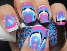 Captivating Claws: A Slumber Party Water Marble
