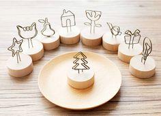 Natürliche Holz Memo Zangen Clips Papier Foto Clip Halter Holz Kleinen Schellen Stehen für Bürobedarf Zubehör