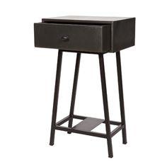 Chevet en m�tal peint noir 1 tiroir Skybox