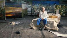 Anselm Kiefer in his astonishing studio in Paris. (bron: Laura Stevens | the drawing room , foto's: Laura Stevens)