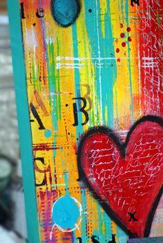 "Mixed Media art journals ""LOVE II"" - Pink Soul Studios - SOLD"
