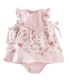 Adorable floral dress with matching bloomers for baby girl @Hallmark Baby